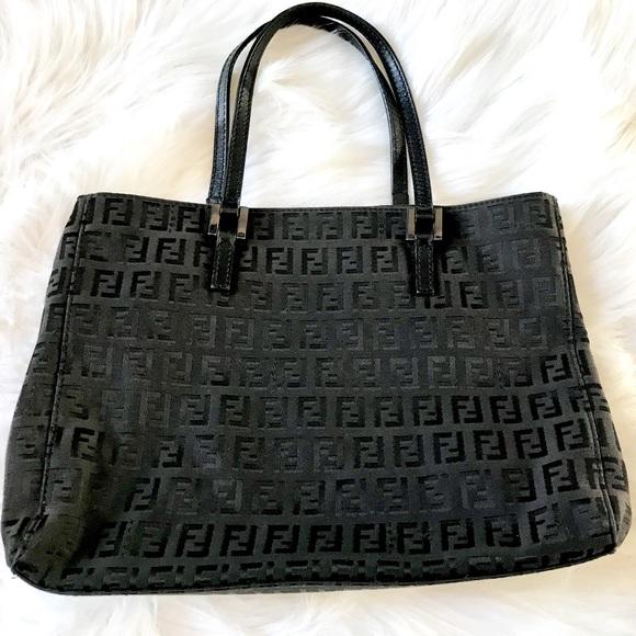Fendi Handbags - Vintage Fendi Zucca Monogram Canvas Handbag 9287ca3e624d3